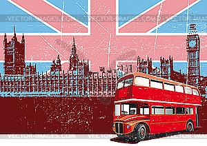 Englischer Stil Poster - Vector-Bild