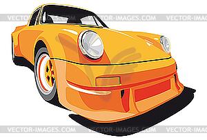 Orangefarbenes Auto - Vector-Clipart / Vektorgrafik