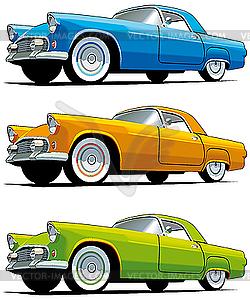 Amerikanische altmodische Autos - vektorisiertes Design