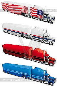 Amerikanische Lkw - Stock Vektor-Clipart