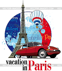 Urlaub in Paris - Clipart