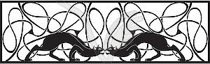 Panther-Vignette - Vektor-Clipart