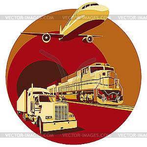 Frachtverkehr - Vector-Bild