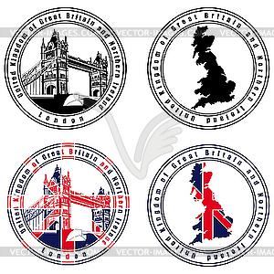 Englische Stempel - Vektor Clip Art