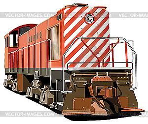 Lokomotive - vektorisierte Abbildung