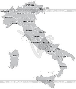 Karte von Italien - Klipart