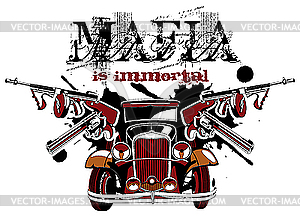 Mafia ist unsterblich - Stock-Clipart