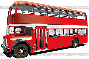Doppeldecker-Bus - Vector-Illustration