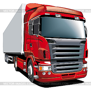 Roter LKW - farbige Vektorgrafik