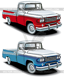 Amerikanische Pickup-Autos - Vektor-Bild