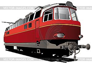Retro elektrische Eisenbahn - Vector-Clipart