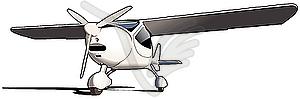 Sportflugzeug - Vektor-Clipart EPS