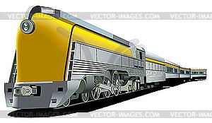 Gelbe altmodische Lok - vektorisierte Abbildung