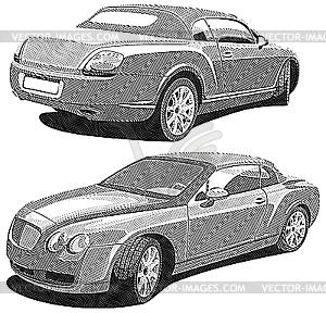 Luxus Auto Gravüre - Stock Vektor-Bild