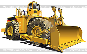 Rad-Bulldozer - farbige Vektorgrafik