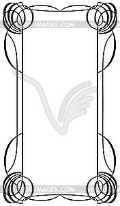 Rahmen im Jugendstil - Stock Vektor-Clipart