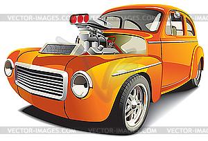 Orangefarbenes Auto - Stock Vektor-Clipart