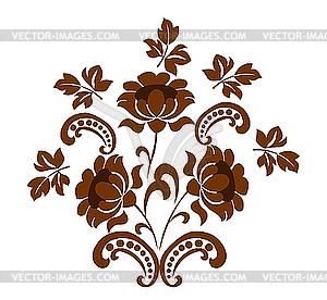 Blumen-Ornament - vektorisiertes Bild