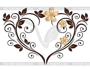 Herz als Blumenmuster - vektorisiertes Design