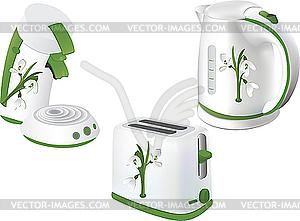 Elektrogeräte für Küche - vektorisiertes Bild