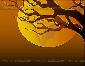 Ast bei Sonnenuntergang - Clipart-Design