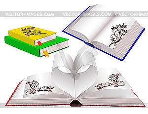 Bücher mit Ornamenten - Vektor-Clipart / Vektorgrafik