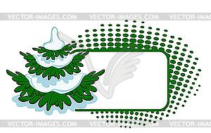 Weihnachtsbaum-Rahmen - Vector-Design