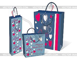 Tasche für Geschenke  - Vector-Clipart / Vektor-Bild