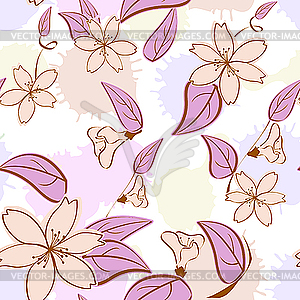 Nachtloses Blumenmuster - vektorisiertes Clipart