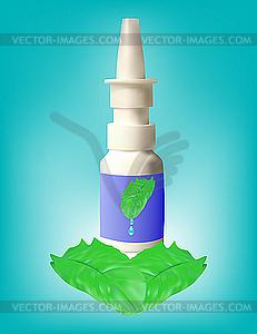 Medizinische Flasche mit Mixtur - vektorisiertes Design