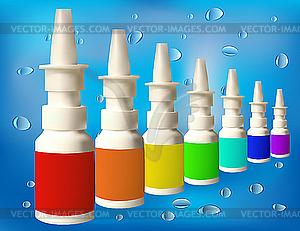 Medizinische Flaschen mit Mixtur - Clipart