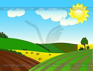 Agrarlandschaft - Stock Vektorgrafik