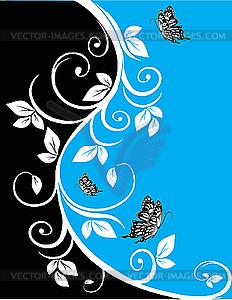 Floraler Hintergrund - vektorisiertes Clip-Art