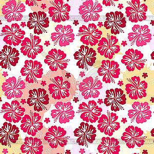 Nachtloses rosa Blumenmuster - Vector-Bild