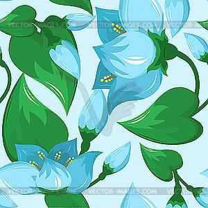 Nahtloses Blumenmuster - Vector-Clipart EPS