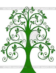 Der durchbrochene Baum - Vektor-Clipart / Vektorgrafik