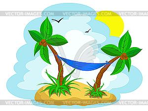 Palmen mit Kokos - Vektor Clip Art