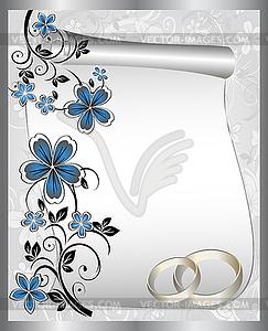 Hochzeitskarte mit floralem Muster - vektorisiertes Clipart