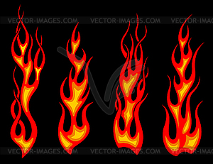 Tribal tattoo flames - vector image