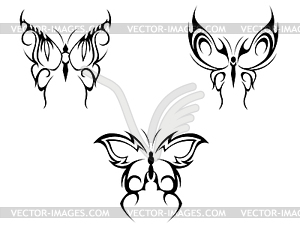 Schmetterlings-Tattoo - Royalty-Free Clipart