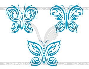 Schmetterlings-Tattoo - Stock-Clipart