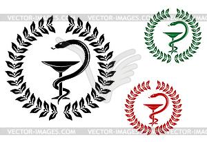 Медицина символ клипарт в векторном