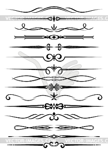 Vintage dividers and borders - vector clip art
