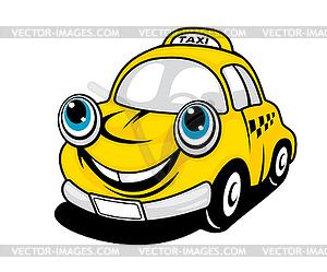 Cartoon Taxi Auto - Clipart