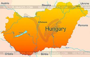 Ungarn - Stock Vektor-Bild
