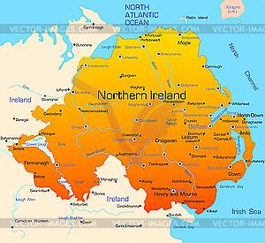 Nordirland - vektorisierte Abbildung