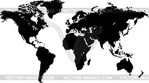 Schwarze Weltkarte - Stock Vektorgrafik