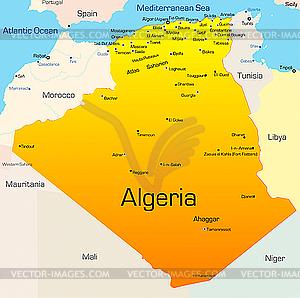 Algerien - Vektor-Clipart