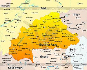 Burkina Faso - Vektorabbildung