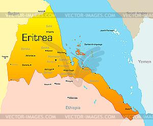 Eritrea - Vector Clip Art